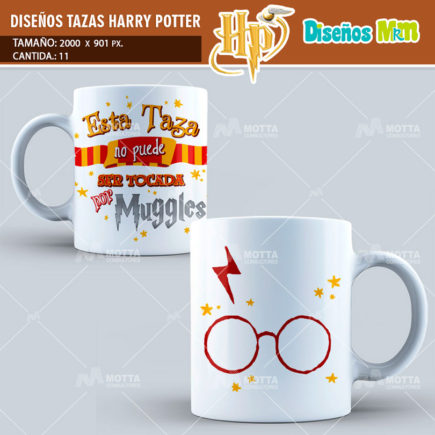 PLANTILLAS HARRY POTTER PARA SUBLIMAR TAZAS