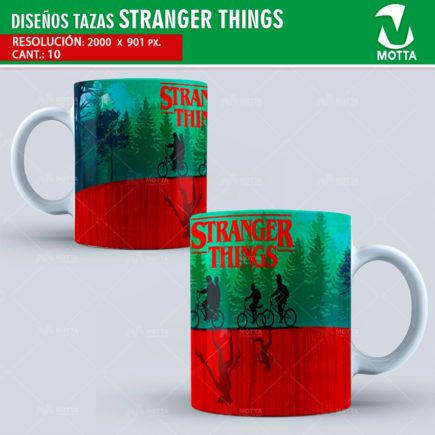PLANTILLAS PARA TAZAS STRANGER THINGS